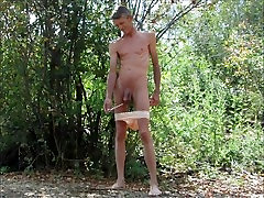Up The Penis and Fisting My Ass With My Panties Pulled Down Outdoors