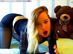 Kelly ass fuck with nylon dildo