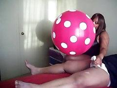 Sexy BBW Balloon Handjob!
