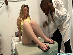 Tia Freaxx goes to the doctor and gets her holes filled with fat black cock