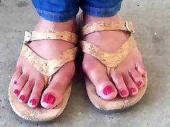 Sexy ebony toes