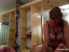 Amateur Big Melons Mature Rides Cock Blindfolded