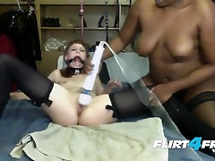 Sexy Submissive Slut Squirts For Chubby Black Mistress