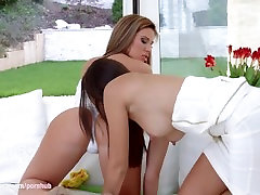 Mia Iris and Bibi have hot lesbian fun with a strap on by Sapphic Erotica
