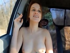Riding around smoking with my tits out. - andrea sky