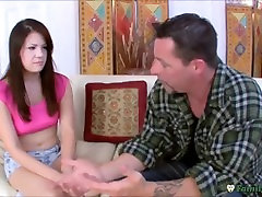 Nervous Teen Chick Asks Stepfather For BJ Lessons