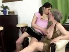 Young Girl and Busty Mature Licking Pussy...