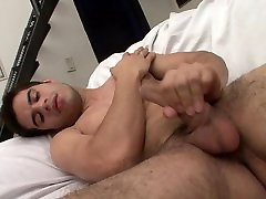 Latino dude gets naked and jerks off
