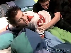 Gay porn and boy jacking off movie Kelly Beats The Down Hard