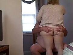 1fuckdatecom My bbw wife fucks me on a stron