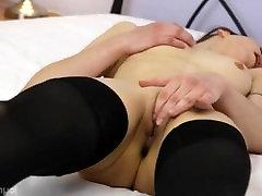 Black stockings and babes vagina rubbing