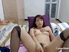 CyberSlut Asian Webcam Girl Hairy Pussy