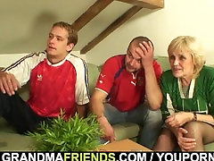 70 years old granny lost bet and gets fucked