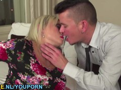 Blonde mature getting drilled byt a young guy