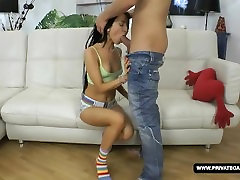 Shooting a teen anal casting with Sandra...