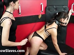 Lesbian submissive Demis fierce whipping and bondage of punished naughty slave girl in bdsm and pain by mistress karina cruel