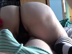 I Oil Up My Wifes Ass Then She Teases My Dick