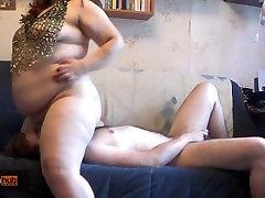BBW Tanya Mellow riding both face and cock