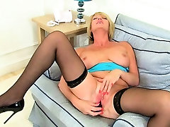 Britains best assets stockings, high heels and big tits