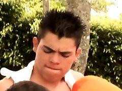 Gay latin face spermed