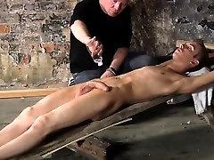 Self bondage cock sucking gay British lad Chad Chambers is h
