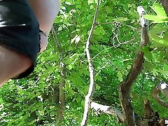 Hammered beauty Jenny Sapphire picked up and facialed in nature