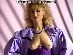 Two feisty sluts share one lucky bastard in hot vintage porn clip