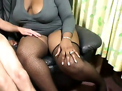 Plump black BBW gives amazing blowjob in dirty XXX porn clip
