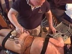 Hunk gets electro stim ba
