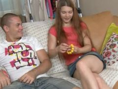 Amazing russian chick anal sex on a sofa