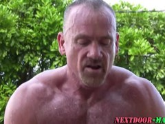 Mature muscle bear fucks