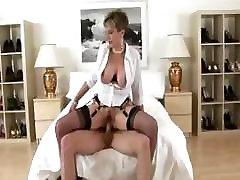 Mature stockings brit slut fuck and facial