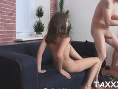 Reality sex scene with a teen