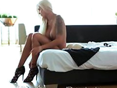 Pure Mature Blonde MILF gets creampie from young stud