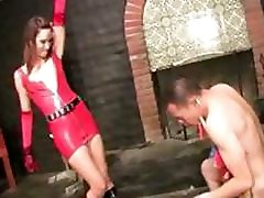 Dark-haired beauty Rayne is a pain slut who really gives it to her slave