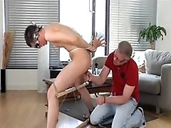 BDSM young slave boy whipped torture