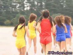 Asian amateur competes nude