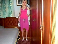 Pictures of blonde girl in pink dresses