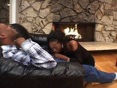Nice ebony threesome