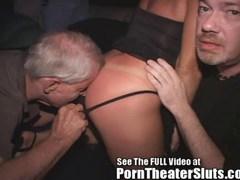 Milf Gangbanged In a Porn Theater