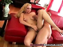 Horny milf blonde camel toe pussy fingered hard
