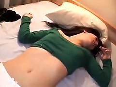 Sweet girl moves her white panties to the side and gets pou