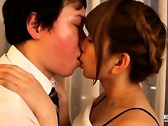 Red hot Japanese teen intensely fucked by a lucky guy