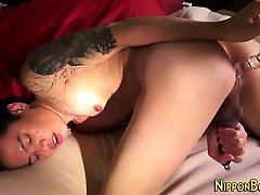 Asian twink solo tugging