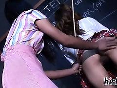 Three Asian lesbians pleasure their wet cunts