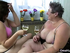 Fat women play with each other