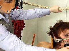 enchanting BDSM toilet slut fucked anally hard