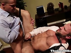 Hairy office hunk assfucking tight butt