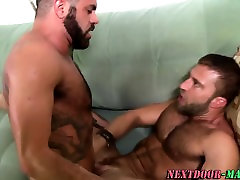 Bear fucks tugging jock