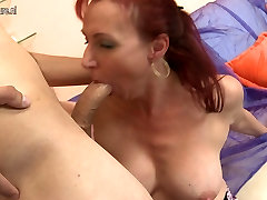 Gorgeous mature mom fucks her son&039;s friend